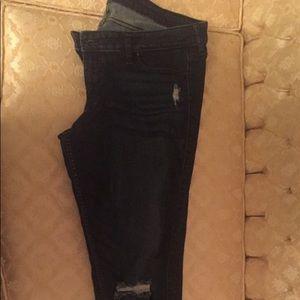 Hollister skinny dark wash jeans